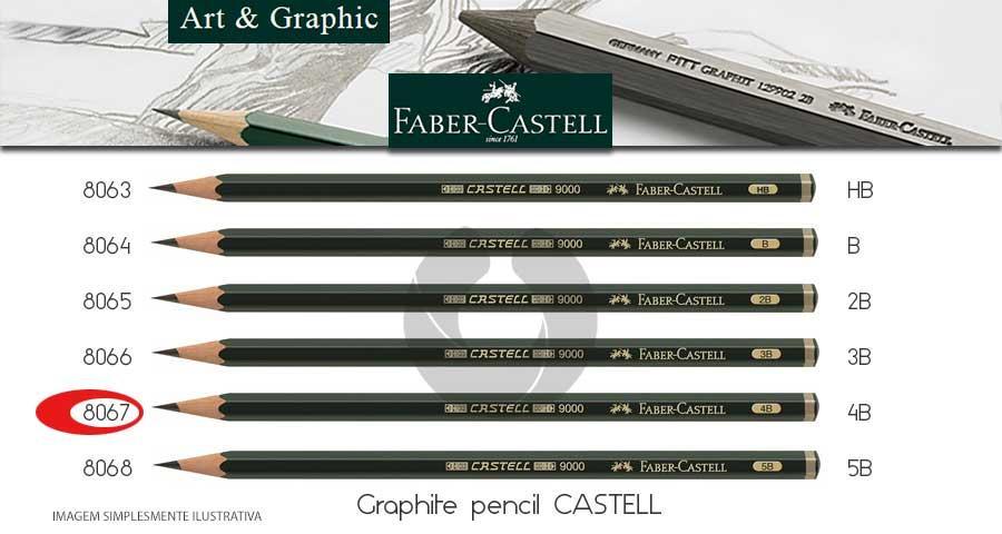 2208e3096a Lápis Grafite Faber-Castell 119004 9000 4B